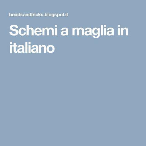 Schemi a maglia in italiano