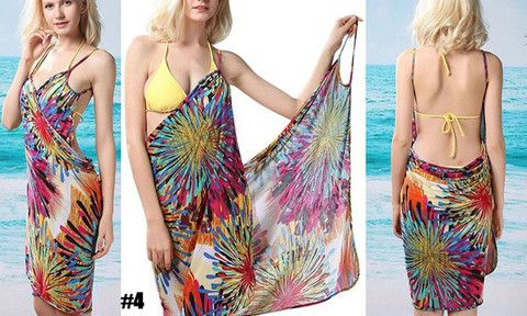 Stretchy garment provides comfort whilst lounging by the beach. Flattering design helps to create a sleek shape. Easy to slip on and off and choose from a range of patterns