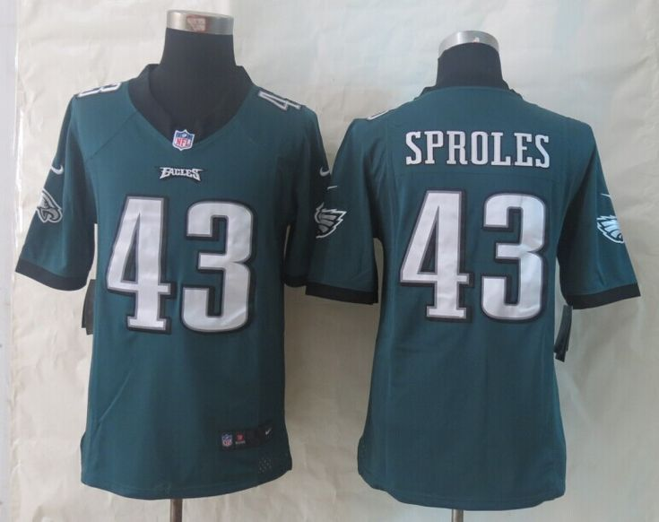 Cheap Wholesale 2014 Regular Season Mens Philadelphia Eagles #43 Darren Sproles Nike Midnight Green Limited Jersey S-XXL Instock,Factory Price,Free Shipping,Contact US