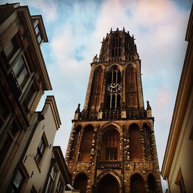 The #tallest #churchtower of #thenetherlands as pictured yesterday while strolling through #Utrecht with @tallguides, kicking off a weekend of #tall! How #appropriate! :) #tall #tallpeople #tallbuildings #utrechtcity #dom #domtoren #domtower #tallgirls #tallblogger #utrechtcityguide #utrechthotspot