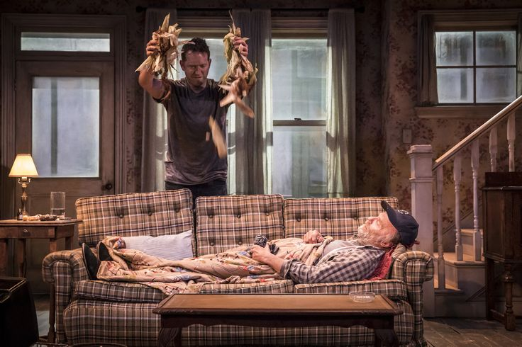 BARNABY KAY & ED HARRIS IN BURIED CHILD, TRAFALGAR STUDIOS, PHOTO JOHAN PERSSON https://www.fromtheboxoffice.com/3LM9-buried-child/