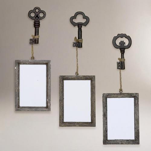 One of my favorite discoveries at WorldMarket.com: Sophie Vintage Key Frame, Set of 3