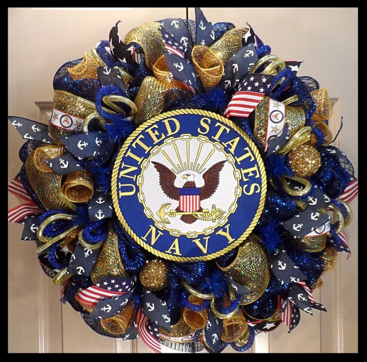 United States Navy Wreath from www.facebook.com/overthetopwreaths