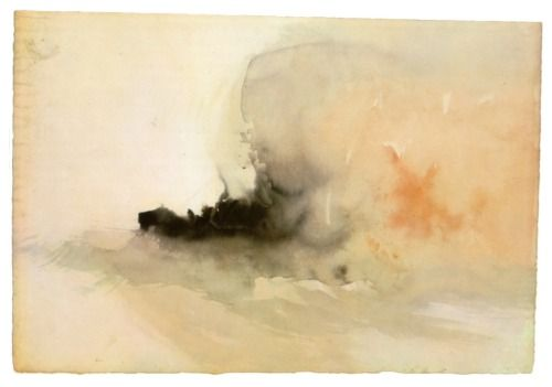 William Turner, burning ship,1830