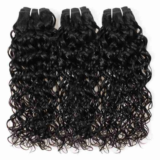 brazilian wet and wavy human hair	weave long hair  factory	wholesale brazilian water waves cheap hair extensions