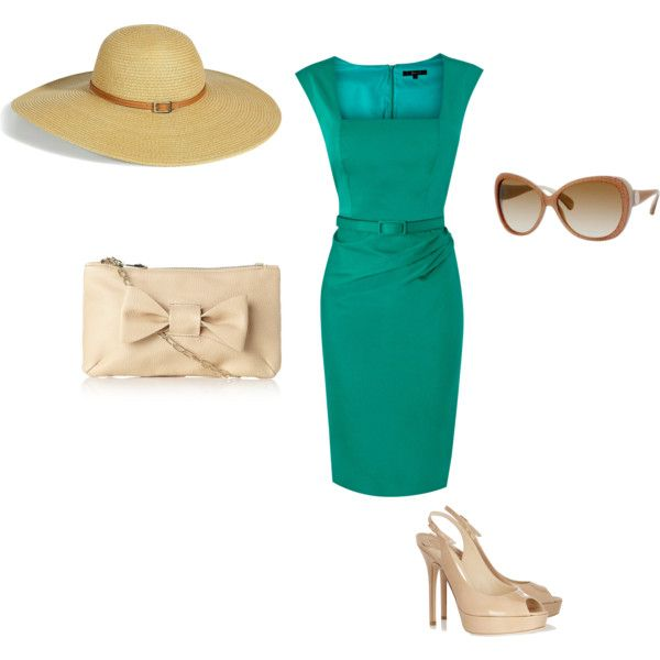 Kentucky Derby outfit...just needs more fluff like peacock feathers and ribbon or something fun on the hat