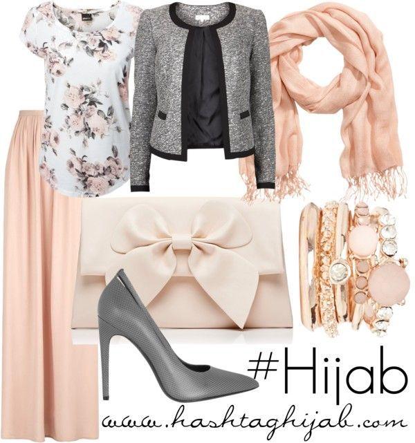 Hijab Fashion 2016/2017: Sélection de looks tendances spécial voilées Look Descreption Hashtag Hijab Outfit #141