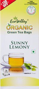 Amazon- Buy Eco Valley Organic Green Tea Sunny Lemony 50 Tea Bags for Rs 125