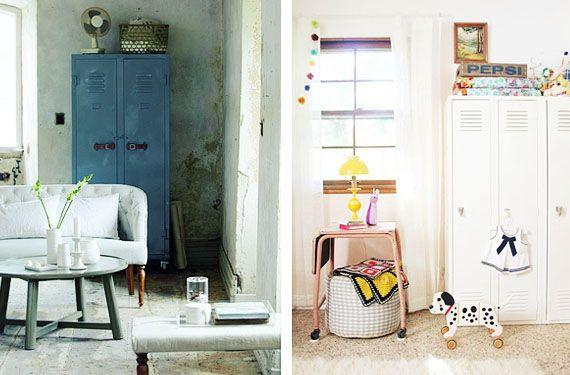 Taquillas metálicas para decorar tu hogar - http://www.decoora.com/taquillas-metalicas-para-decorar-tu-hogar.html