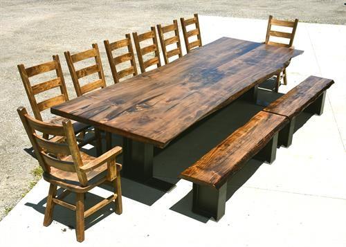 Reclaimed Live Edge Custom Maple Dining Table