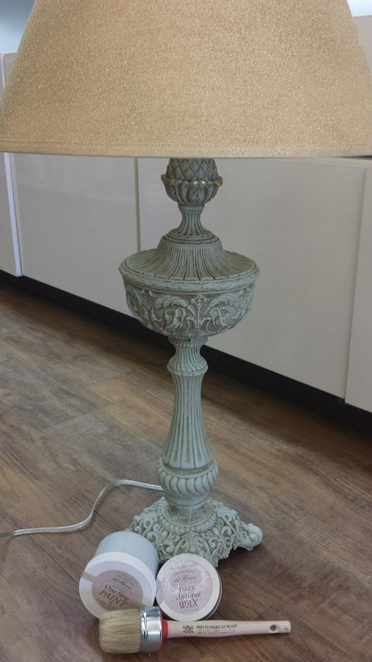 rescue a thrift store lamp with Amy Howard's One Step Paint and Dark Antique wax. Beautiful!
