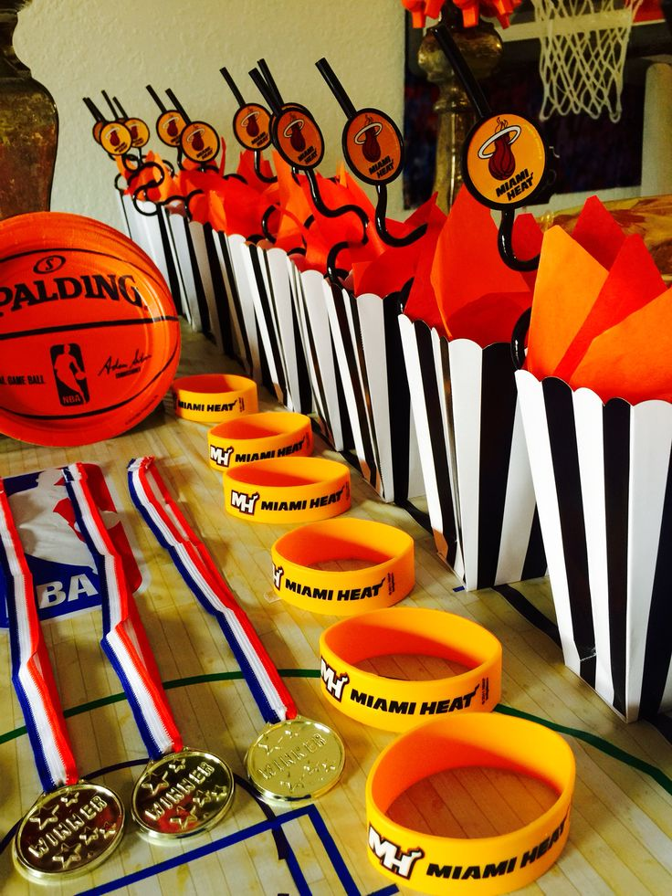Miami Heat  or basketball birthday party decorations