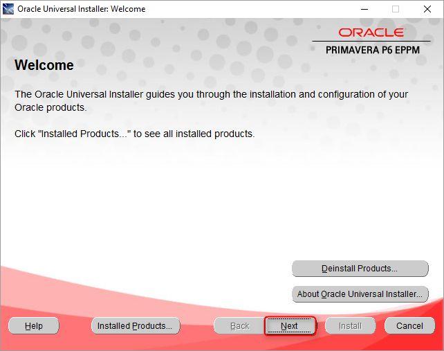 Oracle Primavera P6 17.1.7 Installation on Windows
