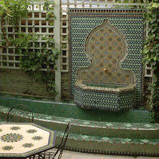 Moroccan styleBathroom Design, Moroccan Design, Moroccan Interiors, Moroccan Gardens, Interiors Design, House Style, Moroccan Style, Outdoor Fountain, Bathroom Ideas