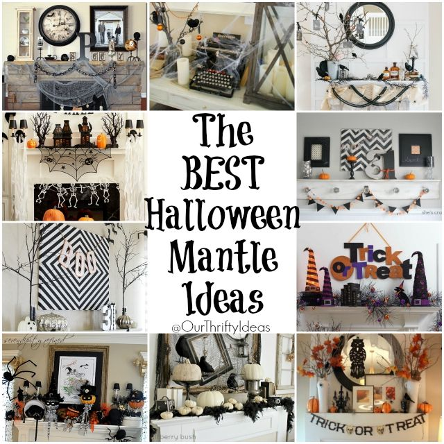 The BEST Halloween Mantle Ideas- these are so cute.