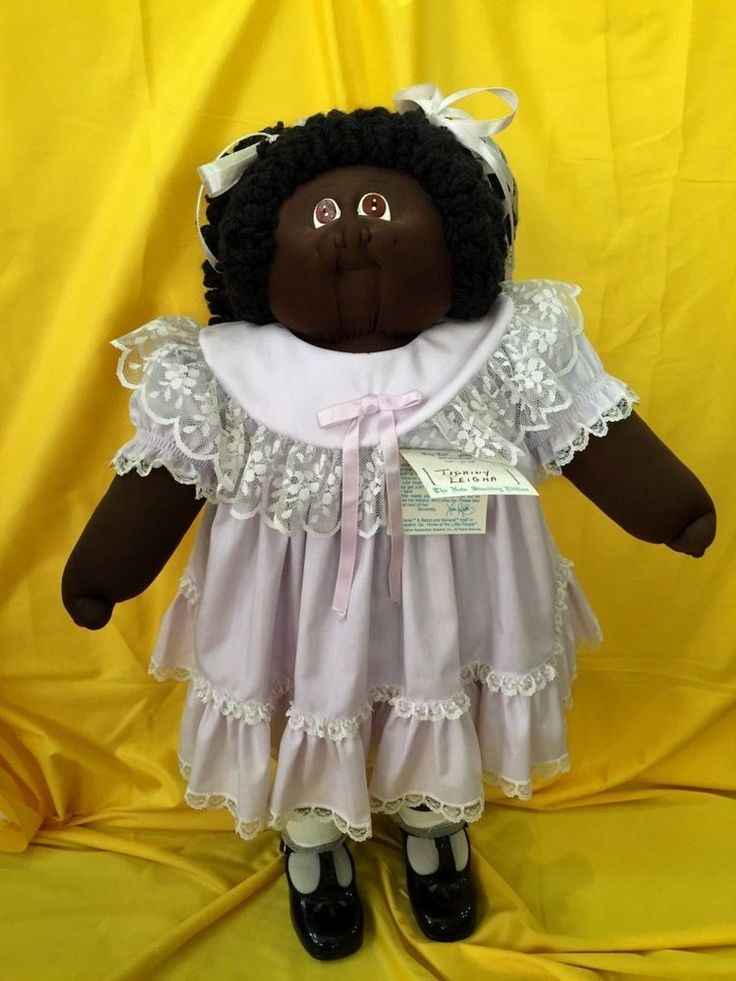 "African American Soft Sculpture 25"" STANDING Black Cabbage Patch Doll Rare '83   #CabbagePatchKids #DollswithClothingAccessories"