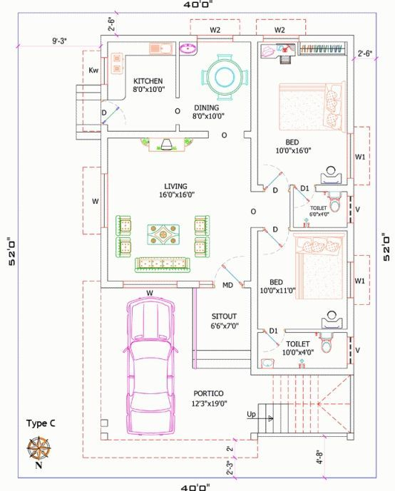Best Free 3d Home Design Software: 17 Best 25x45 House Plan Elevation Drawings Map Naksha
