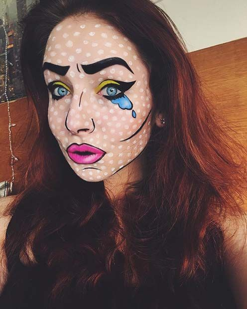 Halloween Makeup Ideas Easy Makeup Looks.23 Creative And Easy Halloween Makeup Ideas Makeup Looks Pop Art
