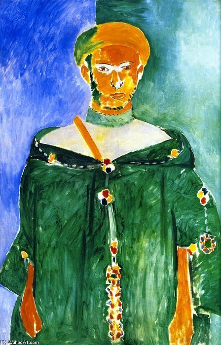 'Moroccan in Grün', öl auf leinwand von Henri Matisse (1869-1954, France)