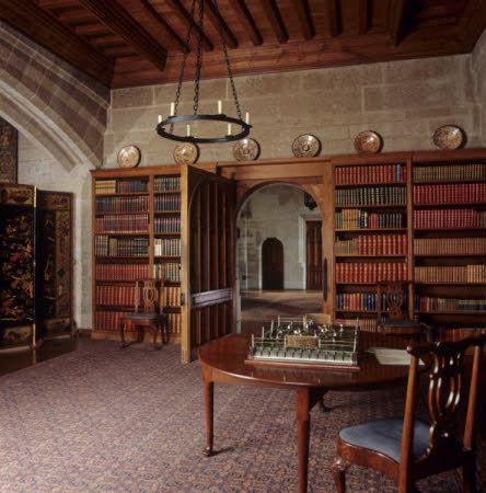 Looking through the Library door toward the Entrance Hall at Castle Drogo, Devon(1).jpg (444×450)