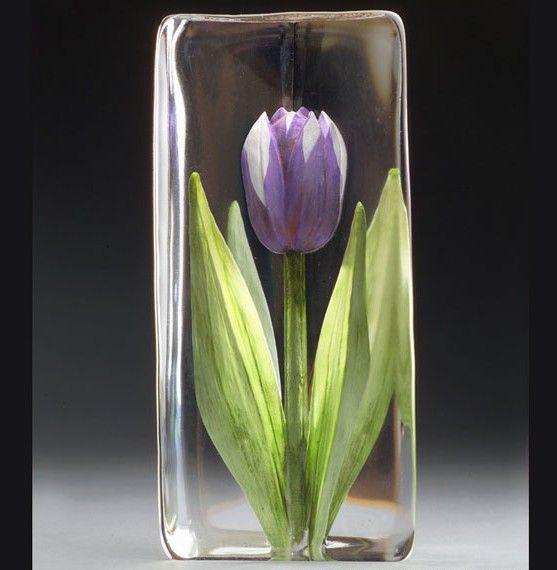 Floral Fantasy Tulpe Lila, Målerås Glasbruk