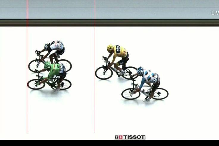 Tour de Francia clasificación de 2017: Rigoberto Uran gana en la foto de llegada al final de un salvaje Etapa 9