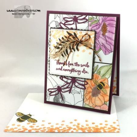 Stamps-N-Lingers.  2017 Occasions Catalog sneak peek.  Dragonfly Dreams, Detailed Dragonfly Thinlits, Inside the Lines DSP, Watercolor Pencils. https://stampsnlingers.com/2016/11/12/stampin-up-dragonfly-dreams-and-inside-the-lines-sneak-peek/