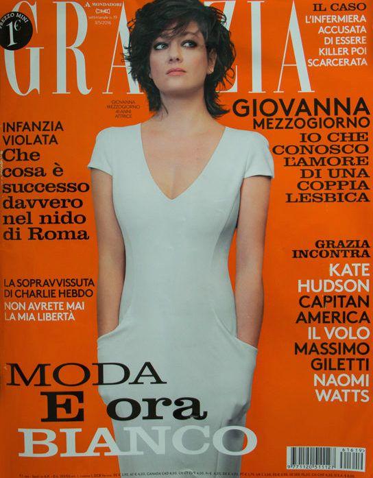 Actress Giovanna Mezzogiorno on Grazia Italia cover, makeup & hair by Massimo Serini, May 2016