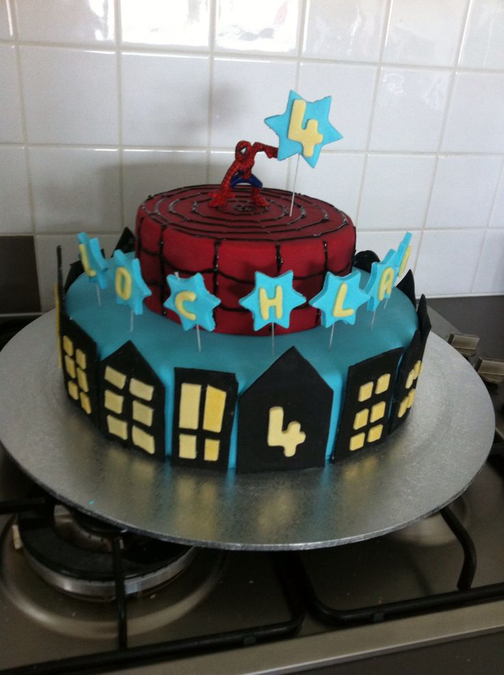 Spiderman Cake 4th Birthday