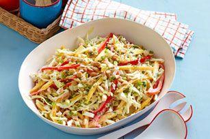Tropical Mango Coleslaw Recipe - Healthy Living Kraft Recipes - Christmas lunch 2014