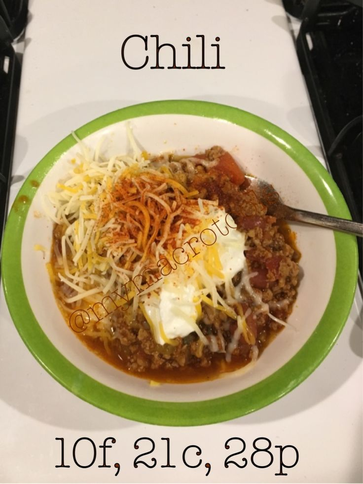 Macro-friendly chili; hearty and delicious