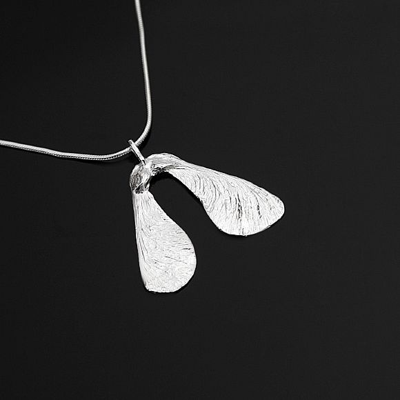 beautiful sycamore seed in silver from the amazing ladies at www.gallery66.com