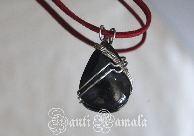 Deep ruby red garnet hand wrapped in silver fill necklace/silver necklace/garnet necklace/bohemian necklace/gemstone necklace/art necklace by ZantiKamala on Etsy