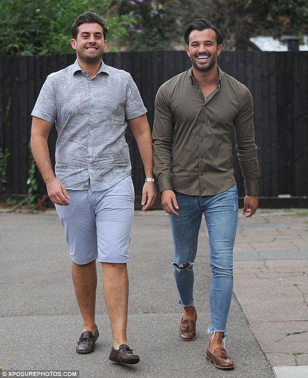 Here come the boys: James 'Arg' Argent arrived with his pal and co-star Michael Hassini...