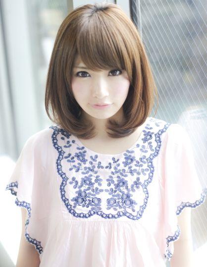 ワンカールミディアムヘア|アフロートジャパン 【銀座の美容室】のヘアスタイル