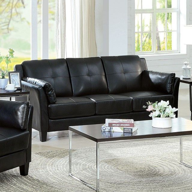 Furniture Of America Pierre Black Sofa Collection - CM6717BK-SF