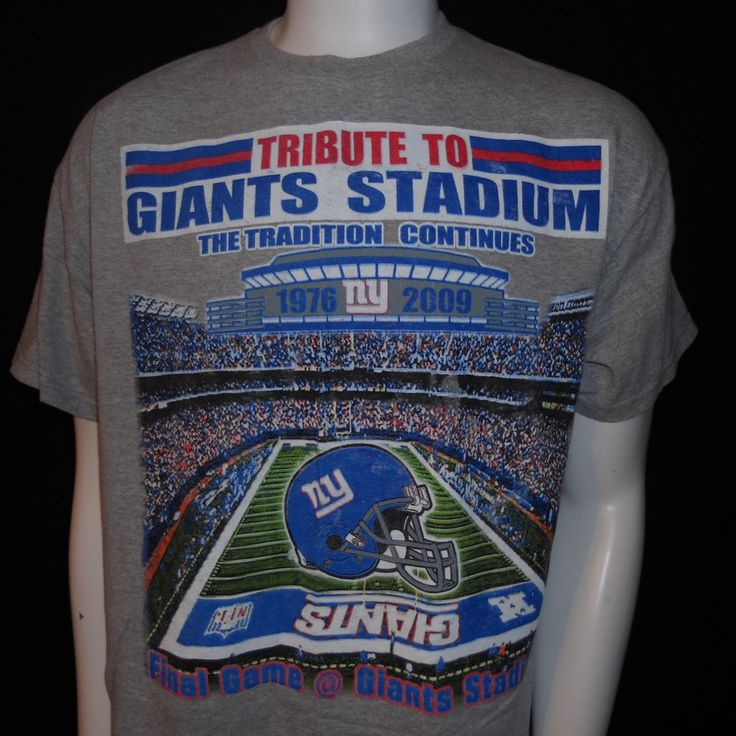 New York Giants Stadium T-Shirt Large Final Game 1976-2009 NFL Football #GiantsStadium #NewYorkGiants