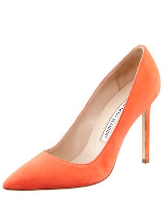 Wednesday, March 13th: Manolo Blahnik BB Suede Pump, 212 872 8940