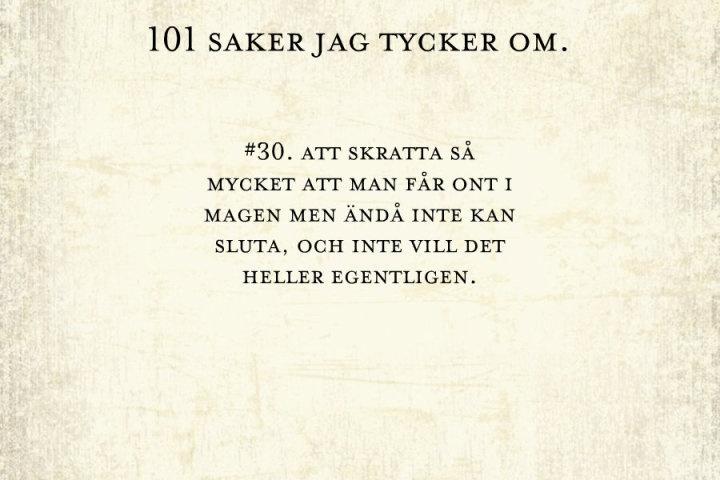 #30, magont av skratt.