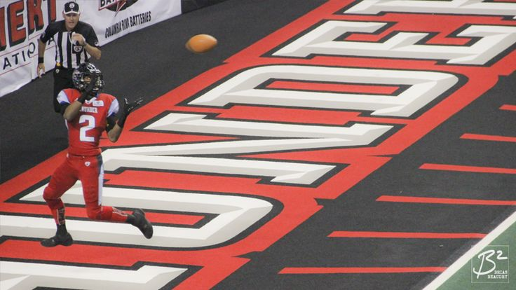 Jared Perry prepares to haul in an early touchdown reception against the LA KISS.