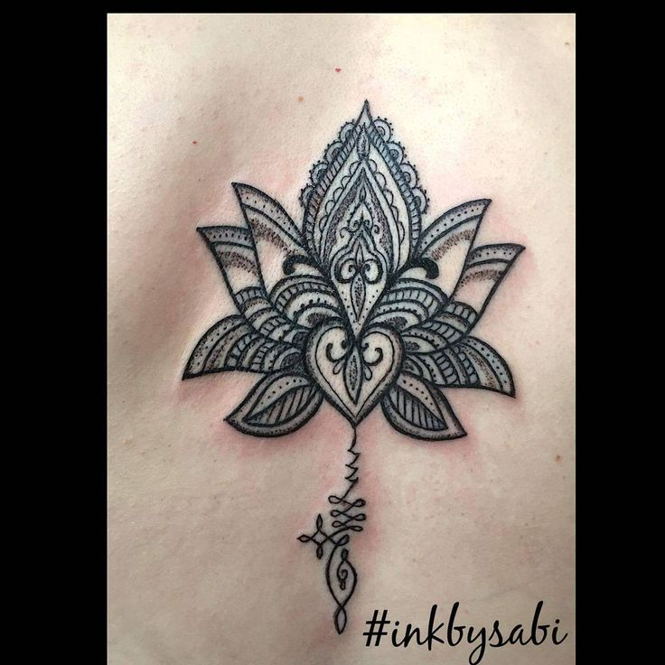 Unalone Lotus: The Path to Enlightenment Tattoo by Sabi #unalome #lotustattoo…