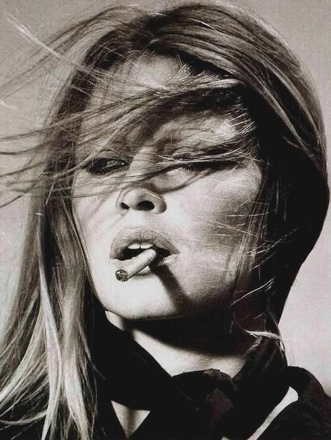 An iconic fashion inspired image of Bridget Bardot - I have this image on a sweatshirt!