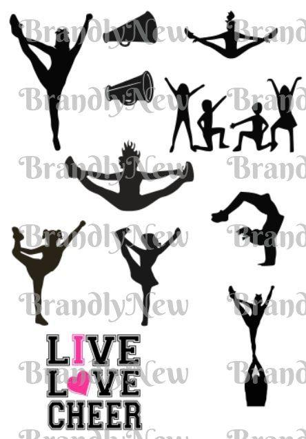 Download I Love Cheer Bundle Design / Live Love Cheer Design / SVG ...