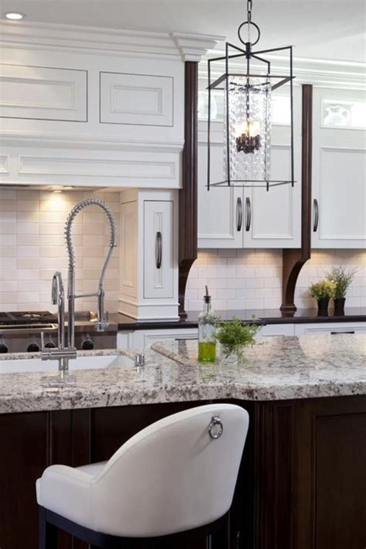 40 stunning transitional kitchen designs ideas for 2019 39 in 2020 white granite countertops on kitchen remodel not white id=29799