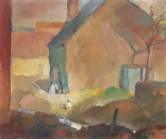 Rodolphe-Théophile Bosshard (1889-1960) - L'enfant Devant la Maison