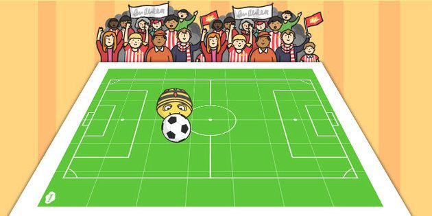 Soccer Pitch Markings | Football Pitch BeeBot Mat - pitch, football, beebot, direction