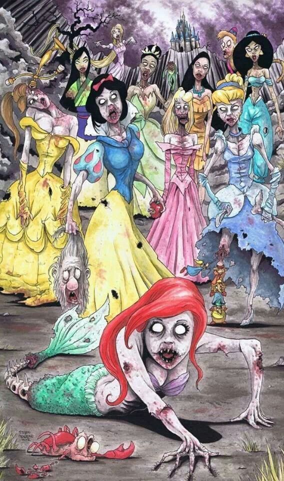 Happily Ever Afterlife Disney princess zombies