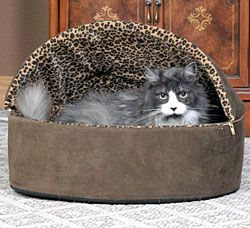 Leopard Thermo-Kitty Bed - Heated Cat Bed | CozyWinters