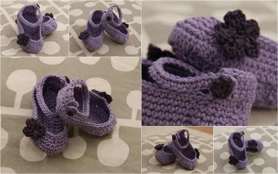 Baby Girl Slippers Booties Crochet PATTERN 0-6 month in PDF