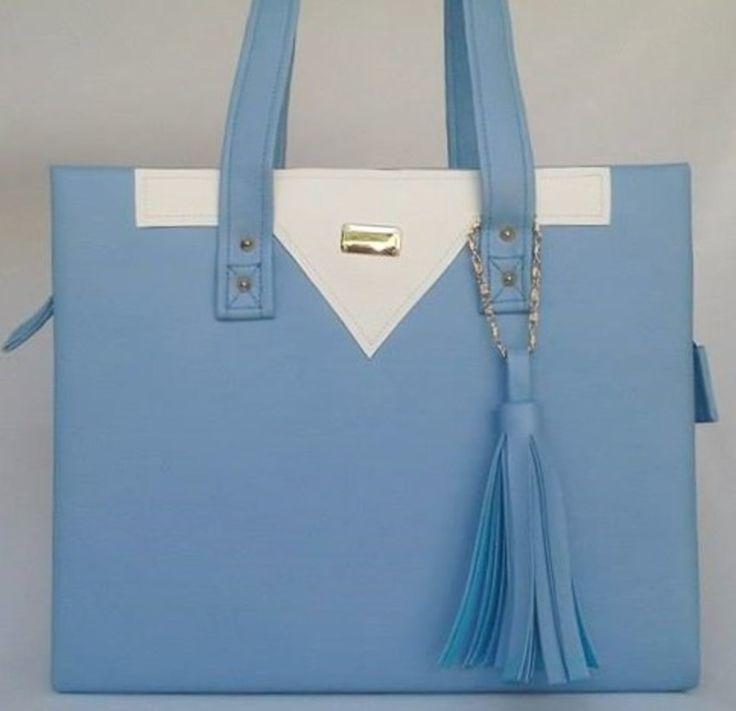 azul serenity, bolsa azul, bolsa azul claro, bolsa azul bebê, bolsa azul serenity, bolsa média, bolsa grande, loja de bolsas, bolsa de couro, bolsa